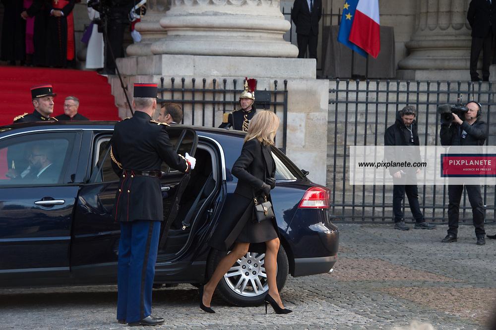 Brigitte Macron Obsèques de Jacques Chirac Lundi 30 Septembre 2019 église Saint Sulpice Paris