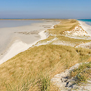 Pristine Sanday beach - Orkney Islands on a bright sunny spring day.