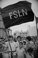 05 Jul 1980, Managua, Nicaragua --- Mostly young adults and children gather in the Plaza de la Revolucion to celebrate the first anniversary of the Nicaraguan Revolution and the Sandinista government. --- Image by © Owen Franken/CORBIS
