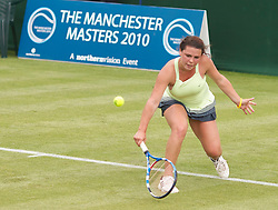 MANCHESTER, ENGLAND: Amy Askew during Day one of the Manchester Masters Tennis Tournament at the Northern Tennis Club. (Pic by David Tickle/Propaganda)