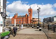 Pierhead building 1897 architect William Frame, Cardiff Railway Company, Cardiff Bay, Wales, UK - French Gothic Renaissance style
