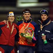 NLD/Heerenveen/20060121 - ISU WK Sprint 2006, Joey Cheek, Dmitry Dorofeyev, Jan Bos