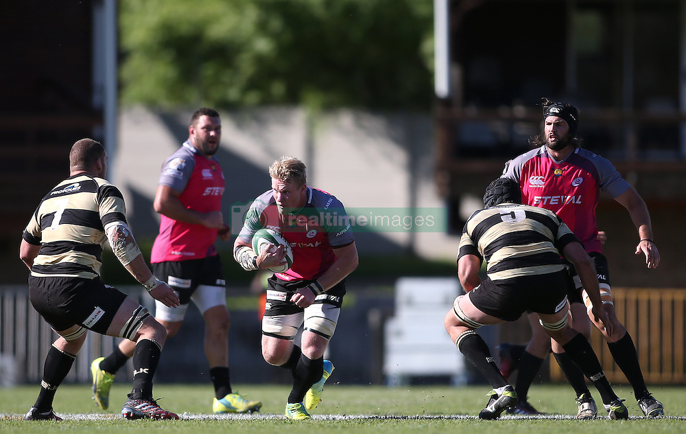 Pumas captain Renaldo Bothma looks for the gap during the Currie Cup premier division match between the Boland Cavaliers and The Pumas held at Boland Stadium, Wellington, South Africa on the 2nd September 2016<br /> <br /> Photo by:   Shaun Roy/ Real Time Images