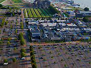 Nederland, Flevoland, Lelystad, 26-08-2019;Shopping center en Fashion Outlet Bataviastad. Shopping Center and Fashion Outlet Bataviastad.<br /> luchtfoto (toeslag op standard tarieven);<br /> aerial photo (additional fee required);<br /> copyright foto/photo Siebe Swart