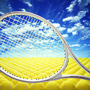 Slazenger tennis racket with a landscape of tennis balls and a cloudy blue sky. Ray Massey is an established, award winning, UK professional photographer, shooting creative advertising and editorial images from his stunning studio in a converted church in Camden Town, London NW1. Ray Massey specialises in drinks and liquids, still life and hands, product, gymnastics, special effects (sfx) and location photography. He is particularly known for dynamic high speed action shots of pours, bubbles, splashes and explosions in beers, champagnes, sodas, cocktails and beverages of all descriptions, as well as perfumes, paint, ink, water – even ice! Ray Massey works throughout the world with advertising agencies, designers, design groups, PR companies and directly with clients. He regularly manages the entire creative process, including post-production composition, manipulation and retouching, working with his team of retouchers to produce final images ready for publication.