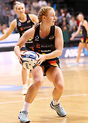 Magic centre Samantha Sinclair in action during the ANZ Premiership netball match - Magic v Tactix played at Claudelands Arena, Hamilton, New Zealand on 30 July 2018.<br /> <br /> Copyright photo: &copy; Bruce Lim / www.photosport.nz