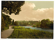 Stunning Old photochrome prints turn back the clock in London <br /> <br /> colourised postcards from the Victorian era,  postcards were made using photochrom - a method of producing colourised photos from negatives<br /> <br /> Photo shows: Richmond, view of the Thames, England, between 1890 and 1900<br /> ©Library of Congress/Exclusivepix Media