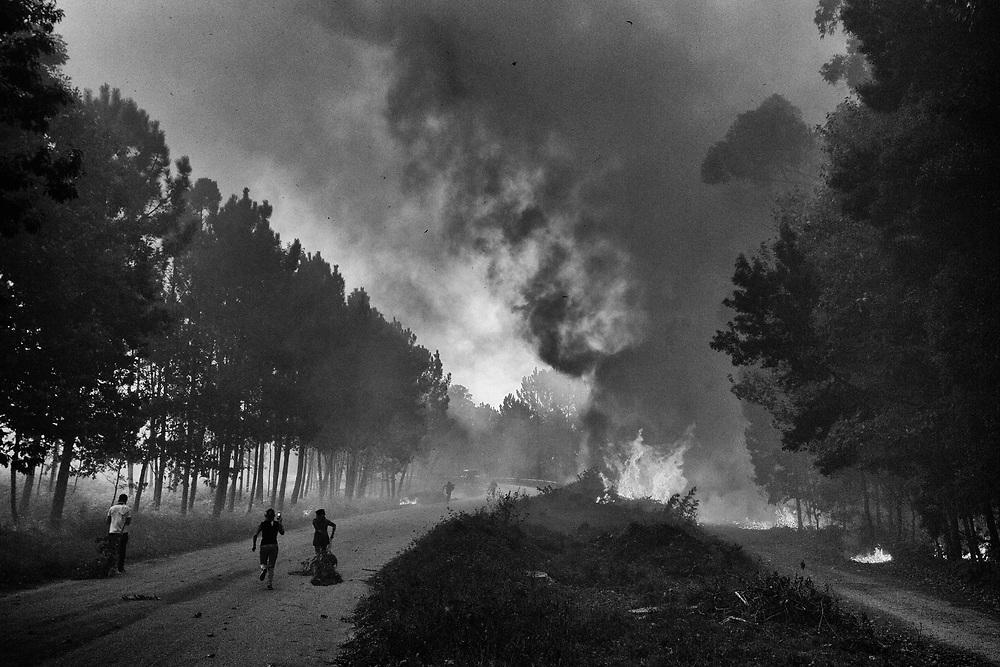Incendios en la provincia de Pontevedra, Galicia, 15 Octubre 2017. © delmi alvarez