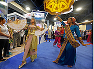 Members of the Philippine Performing Arts Company perform during the Cruise Shipping Miami conference at the Miami Beach Convention Center on Tuesday, March 17, 2015.