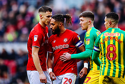 Filip Benkovic and Ashley Williams of Bristol City - Rogan/JMP - 22/02/2020 - Ashton Gate Stadium - Bristol, England - Bristol City v West Bromwich Albion - Sky Bet Championship.