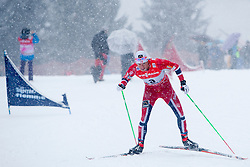 Chris Jespersen of Norway during man 9 km pursue race at the cross country Tour de Ski 2014 of the FIS cross country World cup competition on January 5th, 2014 in Alpe Cermis, Val di Fiemme, Italy. (Photo by Urban Urbanc / Sportida)