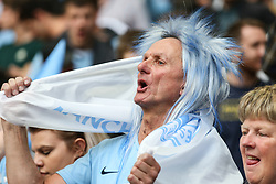 A Manchester City fan celebrates at the final whistle  - Mandatory by-line: Arron Gent/JMP - 18/05/2019 - FOOTBALL - Wembley Stadium - London, England - Manchester City v Watford - Emirates FA Cup Final- Mandatory by-line: Arron Gent/JMP - 18/05/2019 - FOOTBALL - Wembley Stadium - London, England - Manchester City v Watford - Emirates FA Cup Final