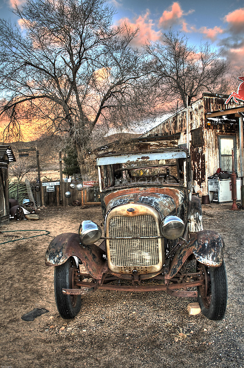 Hackberry General Store is dusty, small, out in the middle of nowhere, packed with old cars and old Route 66 stuff.