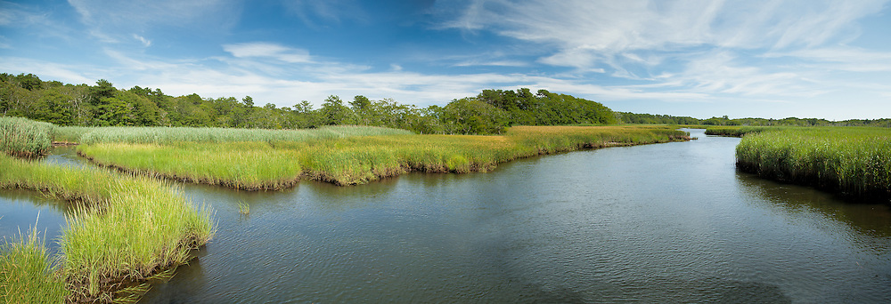 The Herring River winds its way from Nantucket Sound, through Harwich's Bell's Neck Consevation Lands.