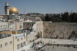 A view of the Dome of the Rock shrine and the Western (wailing) wall in the old city of Jerusalem. From a series of photos commissioned by  British NGO, Medical Aid for Palestinians (MAP).