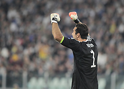 September 27, 2017 - Turin, Italy - Gianluigi Buffon during Champions League match between Juventus and Olympiakos Pirus, in Turin, on September 27, 2017  (Credit Image: © Loris Roselli/NurPhoto via ZUMA Press)