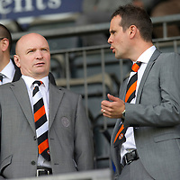 St Johnstone v Dundee United....01.09.12      SPL  <br /> Dundee Utd Chairman Stephen Thompson (left)<br /> Picture by Graeme Hart.<br /> Copyright Perthshire Picture Agency<br /> Tel: 01738 623350  Mobile: 07990 594431