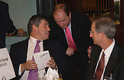 Gordon Brown, Jim Naughtie and Robert Olsen, Political Studies Association Awards 2004. Institute of Directors, Pall Mall. London SW1. 30 November 2004.  ONE TIME USE ONLY - DO NOT ARCHIVE  © Copyright Photograph by Dafydd Jones 66 Stockwell Park Rd. London SW9 0DA Tel 020 7733 0108 www.dafjones.com