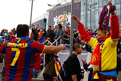 28.05.2011, Wembley Stadium, London, ENG, UEFA CHAMPIONSLEAGUE FINALE 2011, FC Barcelona (ESP) vs Manchester United (ENG), im Bild Barcalona fans prior to the 2011UEFA  Champions League final between Manchester United from England and FC Barcelona from Spain, played at Wembley Stadium London, EXPA Pictures © 2011, PhotoCredit: EXPA/ M. Gunn
