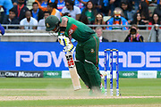 Sabbir Rahman of Bangladesh digs out a yorker bowled by Jasprit Bumrah of India during the ICC Cricket World Cup 2019 match between Bangladesh and India at Edgbaston, Birmingham, United Kingdom on 2 July 2019.