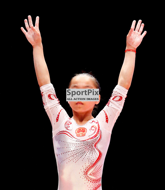 2015 Artistic Gymnastics World Championships being held in Glasgow from 23rd October to 1st November 2015...Yan Wang (Peoples Republic of China) competing in the Balance Beam competition...(c) STEPHEN LAWSON | SportPix.org.uk