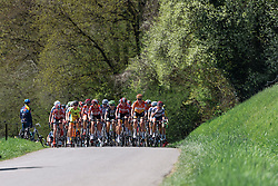 Mix of teams on the front in the early climbs - Flèche Wallonne Femmes - a 137km road race from starting and finishing in Huy on April 20, 2016 in Liege, Belgium.