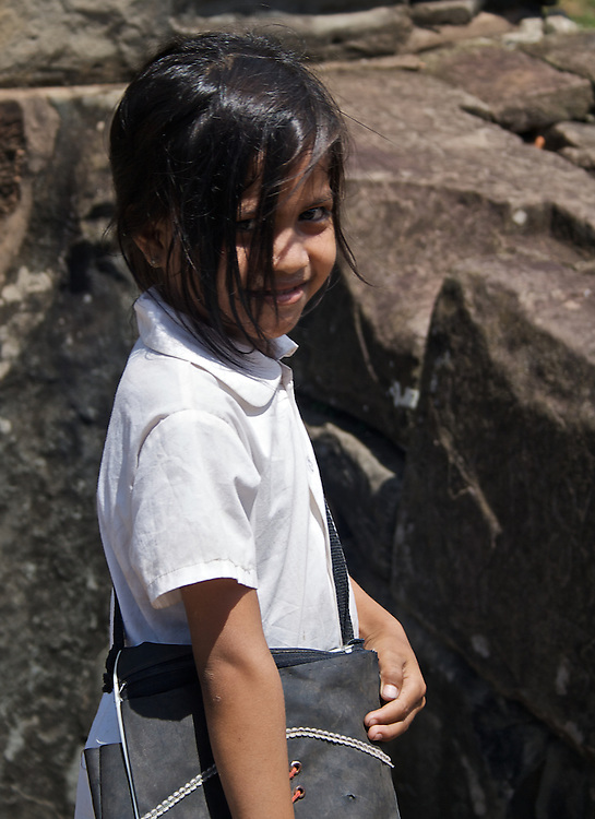 Children of the Temples<br /> Many children seem to use Bakong as their playground or a passage to their school.