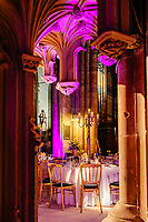 Hull Minster, Kingston Upon Hull, East Yorkshire, United Kingdom, 10 November, 2017. Pictured: Gala Diner event in the Minster, the first time the re developed venue open space has been used.