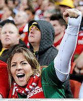 22 June 2013; British & Irish Lions supporter Lisa Halpin, from Douglas, Cork, at the game. British & Irish Lions Tour 2013, 1st Test, Australia v British & Irish Lions, Suncorp Stadium, Brisbane, Queensland, Australia. Picture credit: Stephen McCarthy / SPORTSFILE