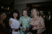 NANCY MILLER JONG, JULIE DORMAN AND SOPHIE DE SCHWARZBERG-GUNTHER,  Grosvenor House Art & Antiques Fair charity gala evening in aid of Coram Foundation. Grosvenor House. Park Lane. London. 14 June 2007.  -DO NOT ARCHIVE-© Copyright Photograph by Dafydd Jones. 248 Clapham Rd. London SW9 0PZ. Tel 0207 820 0771. www.dafjones.com.
