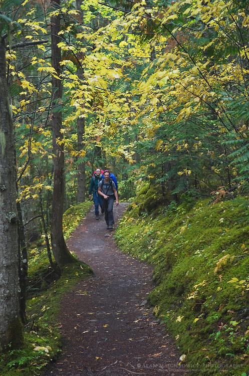 Hikers on Berg Lake Trail, Berg Lake, Mount Robson Provincial Park