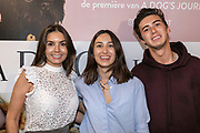 2019, June 12. UPI, Amsterdam, the Netherlands. Rosanna Lima, Nino Willekes and Demi Wilkes at the dutch premiere of A Dog's Journey.