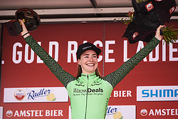 Riejanne Markus (NED) awarded the combativity award at Amstel Gold Race - Ladies Edition 2018, a 116.9 km road race from Maastricht to Berg en Terblijt on April 15, 2018. Photo by Sean Robinson/Velofocus.com