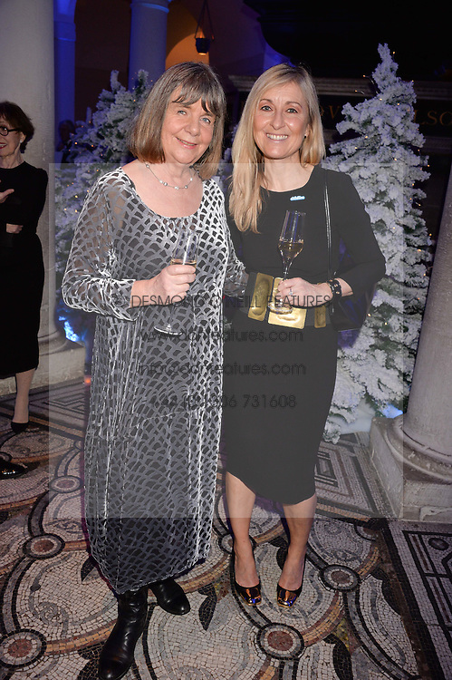 Julia Donaldson, Fiona Phillips at a glittering St Paul's Cathedral carol concert to celebrate Childline's 30th anniversary hosted by the NSPCC in the presence of HRH The Countess of Wessex., London England. 13 December 2016.