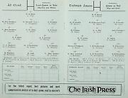 All Ireland Senior Hurling Championship Final,.03.09.1961, 09.03.1961, 3rd September 1961,.Minor Tipperary v Kilkenny, .Senior Dublin v Tipperary, Tipperary 0-16 Dublin 1-12,..The Irish Press, ..J Grey, D Ferguson, N Dromgoogle, L Foley, W Ferguson, C Hayes, S Lynch, D Foley, F Whelan,  LA Boothman, M Bohan, L Shannon, B Boothman, P Croke, W Jackson, E Malone, S O'Brien, M Kennedy, P Maycock, J Lenihan, ...D O'Brien, M Hassett, M Maher, K Carey, M Burns, A Wall, J Doyle, M O'Gara, T English, J Doyle, L Devaney, D Nealon, J McKenna, W Moloughney, T Moloughney, T Ryan, S McLoughlin,  R Mounsey, P Ryan, S Hough,