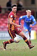 Bradford City midfielder Danny Devine (24) on the ball during the EFL Sky Bet League 1 match between Bradford City and Gillingham at the Northern Commercials Stadium, Bradford, England on 24 March 2018. Picture by Mick Atkins.