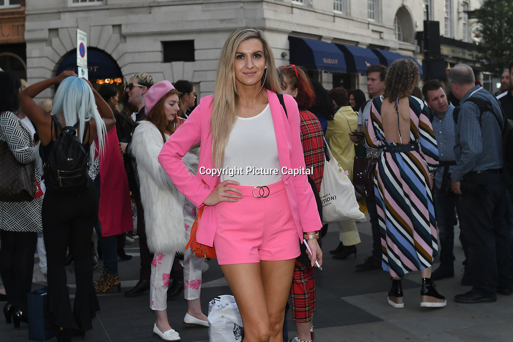 Victoria Brown is a Beauty/Fashion/Lifestyle Model attend Fashion Scout - SS19 - London Fashion Week Day 2, De Vere Grand Connaught Rooms, London, UK. 16 September 2018