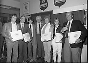 Furstenberg Promotion At The Horse Show. (R39)..1986..06.08.1986..08.06.1986..6th August 1986..A Furstenberg promotion was held during the Horse Show in the RDS (Royal Dublin Showgrounds) this week...Series of images shows the recipients of the presentation packs of Furstenberg..We do not have the caption sheet so are unable to name the individuals featured. If you know anybody in the images why not let us know at irishphotoarchive@gmail.com and we will add their names.