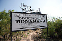 Sign, Monahans, Texas.