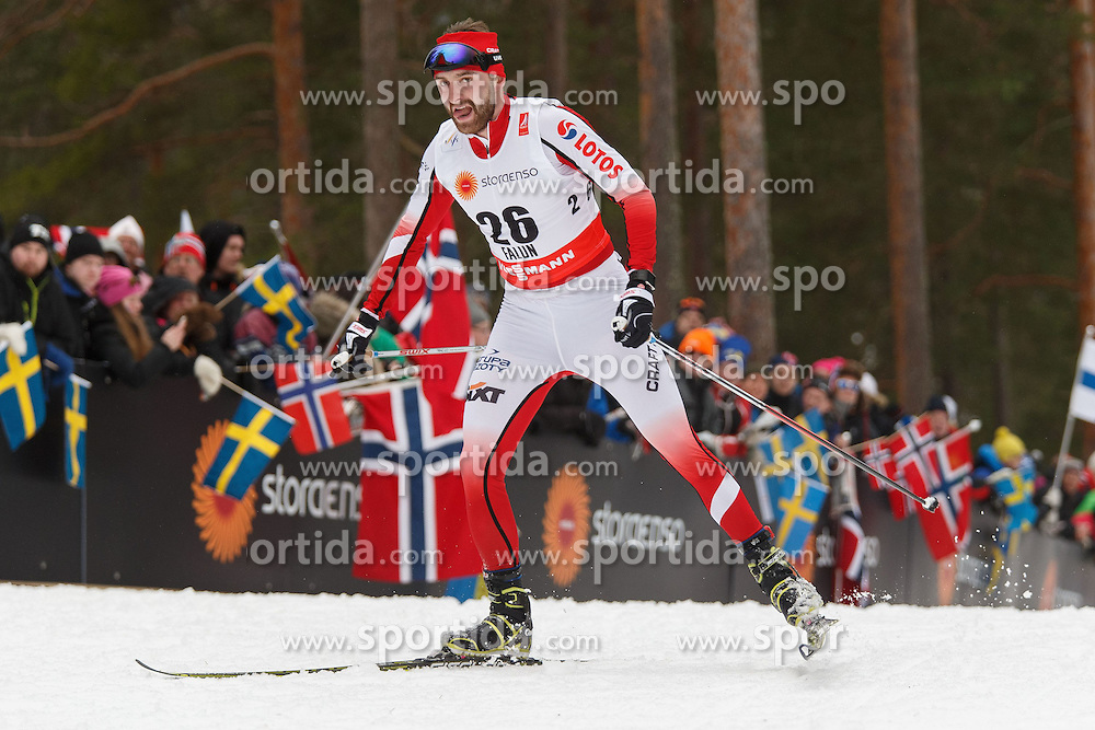 25.02.2015, Lugnet Ski Stadium, Falun, SWE, FIS Weltmeisterschaften Ski Nordisch, Falun 2015, Langlauf, Herren, 15km, im Bild JAN ANTOLEC // during the Mens 15km Cross Country Race of the FIS Nordic Ski World Championships 2015 at the Lugnet Ski Stadium in Falun, Sweden on 2015/02/25. EXPA Pictures &copy; 2015, PhotoCredit: EXPA/ Newspix/ Radoslaw Jozwiak<br /> <br /> *****ATTENTION - for AUT, SLO, CRO, SRB, BIH, MAZ, TUR, SUI, SWE only*****