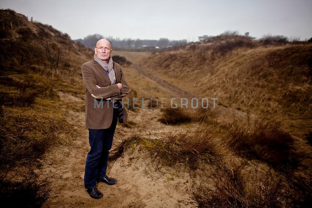 KATWIJK, THE NETHERLANDS, February 05, 2010  Bart van Kruistum, CDA raadslid in Katwijk op de locatie waar.de Verlengde Westerbaan moet worden aangelegd in Katwijk. (photo by Michel de Groot)