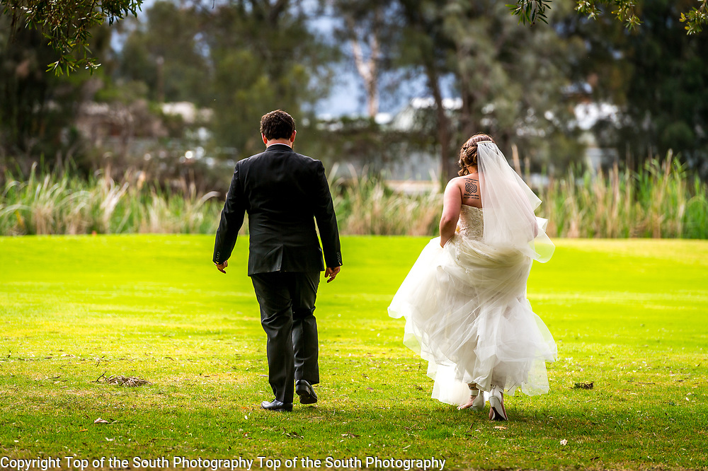 Wedding day for Kirstie Adam & Russell Gilbert at Port kembla Golf Club and course, Wollongong, NSW.