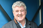 A relaxed Steve Bruce before the The FA Cup fourth round match between Bury and Hull City at Gigg Lane, Bury, England on 30 January 2016. Photo by Mark Pollitt.