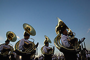 The Milpitas marching band performs before the Homecoming game against Saratoga at Milpitas High School in Milpitas, California, on October 10, 2014. Milpitas beat Saratoga 49-0. (Stan Olszewski/SOSKIphoto)