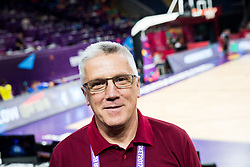 Peter Vilfan, former basketball player of Slovenia as commentator of Kanal A prior to the Final basketball match between National Teams  Slovenia and Serbia at Day 18 of the FIBA EuroBasket 2017 at Sinan Erdem Dome in Istanbul, Turkey on September 17, 2017. Photo by Vid Ponikvar / Sportida