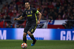 February 20, 2019 - Madrid, Madrid, Spain - Giorgio Chiellini of Juventus in action during the UEFA Champions League Round of 16 first leg match between Ateltico Madrid and Juventus at Wanda Metropolitano Stadium on February 20, 2019 in Madrid. (Credit Image: © Jose Breton/NurPhoto via ZUMA Press)