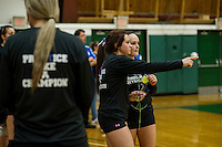 Volleyball finals Winnisquam and Nute at Plymouth State University Friday, November 8, 2013.  Karen Bobotas/for the Laconia Daily Sun