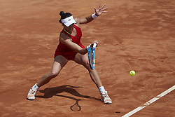 April 21, 2018 - La Manga, Murcia, Spain - Garbine Muguruza of Spain in action in her match against Montserrat Gonzalez of Paraguay during day one of the Fedcup World Group II Play-offs match between Spain and Paraguay at Centro de Tenis La Manga Club on April 21, 2018 in La Manga, Spain  (Credit Image: © David Aliaga/NurPhoto via ZUMA Press)