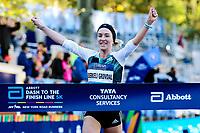 BILDET INNGÅR IKEK I FASTAVTALER. ALL NEDLASTING BLIR FAKTURERT.<br /> <br /> Friidrett<br /> Foto: imago/Digitalsport<br /> NORWAY ONLY<br /> <br /> New York Marathon NOVA IORQUE, NY - 05.11.2016: NEW YORK MARATHON - Karoline Bjerkeli Grøvdal (NOR) wins Abbott Dash to the Finish Line 5K in Central Park in New York. (Photo: Fernanda Paradizo/Fotoarena)