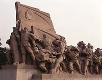 AA01216-03...CHINA - Monument in Beijing's Tiananmen Square celebrating Mao's crossing of the Yangzi River.